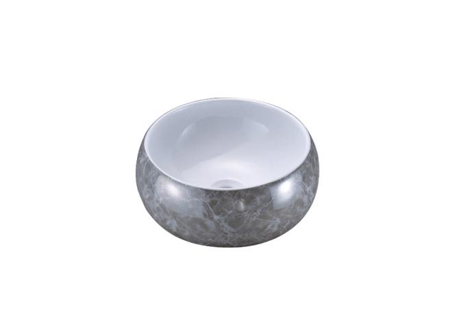 银大理石纹 3014  重庆艺术盆批发市场