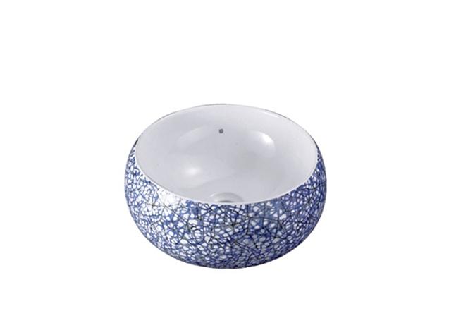 蓝水磨石纹 3014 重庆台盆厂家