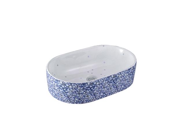 蓝水磨石纹 3004 重庆台盆生产厂家