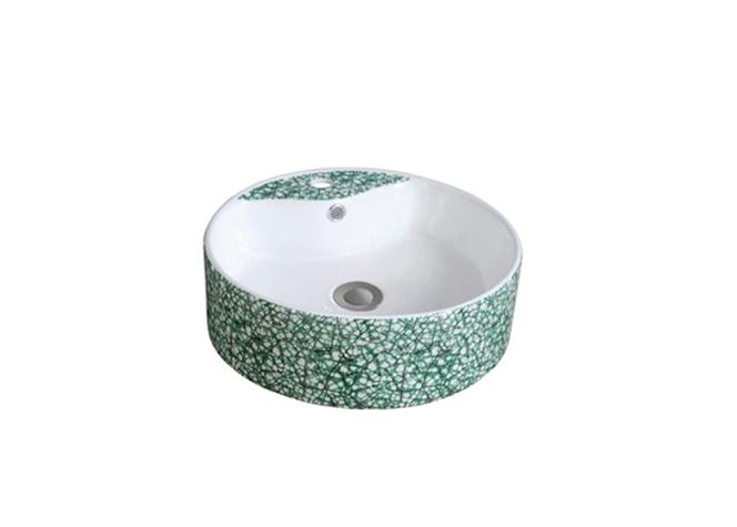绿水磨石纹 2014 重庆台盆生产厂家