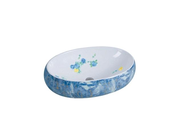 蓝石纹 3001 重庆艺术盆批发市场
